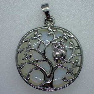 Filigree Tree and Owl Pendants