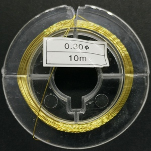 0.3mm Copper Wire-Gold