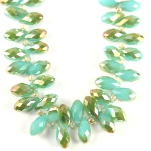 Chinese 6x12mm Crystal Drop - Turquoise Green AB