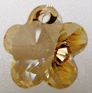 6744 Swarovski Pendant Flower - Golden Shadow