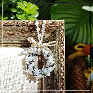 Project Kit - 3008 Christmas Wreath (White & Silver)