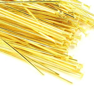 3cm-Head Pins-Gold Plated (100pcs)