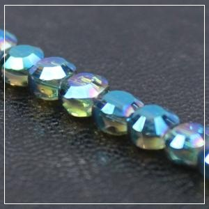 Chinese 4mm Coin Crystals - Crystal Green AB