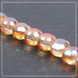 Chinese 4mm Coin Crystals - Salmon Crystal AB
