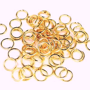 5mm-Jump Rings-Champagne.Gold Finished(10g)