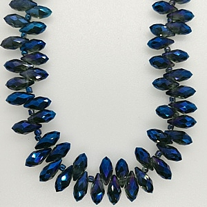 Chinese 6x12mm Crystal Drop - Blue Shimmer