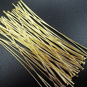 7cm-Head Pins-Gold Plated (50pcs)