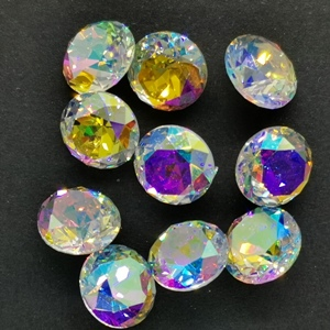 8mm Chinese Chaton-Crystal AB