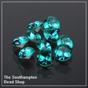 8mm Chinese Chaton-Blue Zircon