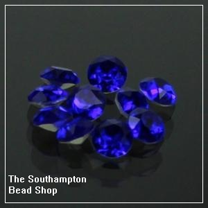 8mm Chinese Chaton-Royal Blue
