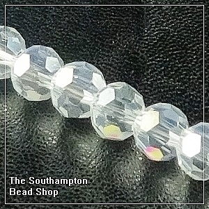 Chinese 6mm Round Crystals - Crystal AB