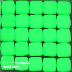 CzechMates Tile Bead 6mm-Neon Green