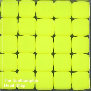 CzechMates Tile Bead 6mm-Neon Yellow
