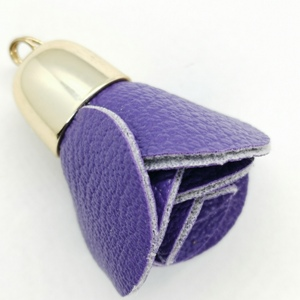 Flower Bag Charm-Purple