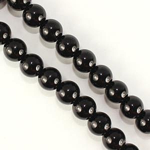 8mm Glass Pearl - Black