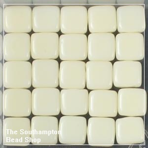 CzechMates Tile Bead 6mm-Ivory