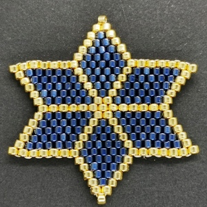 Beaded Ornaments - Large Star - Montana