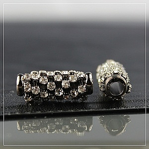 Medium rhinestone-tube-gunmetal