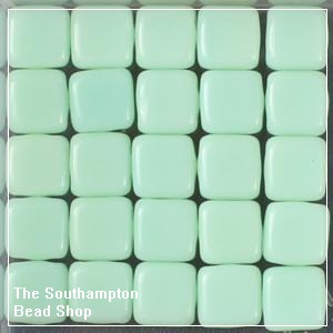 CzechMates Tile Bead 6mm-Opaque-Pale Jade