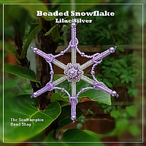 Project Kit - 3010 Beaded Snowflake Kit (Make 2) - (Lilac/Silver)