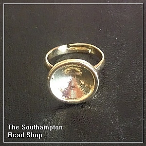 14mm Rivoli ring base - champagne gold finished