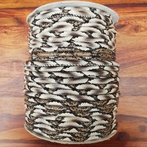 Leatherette Cord - Brown/Grey