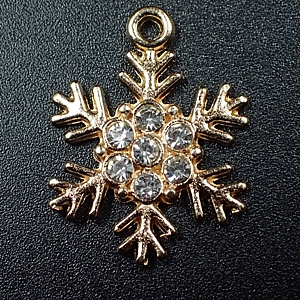 Snowflake-charm-Champagne Gold