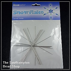 Steel Wire - Snowflake Ornament Wire Form (medium)