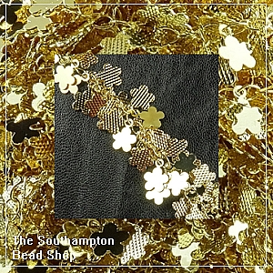confetti chain-pale gold plated-flowers (50 cm)