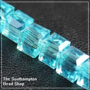Chinese 6mm Cube Crystals - Aqua