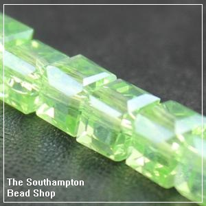 Chinese 6mm Cube Crystals - Peridot