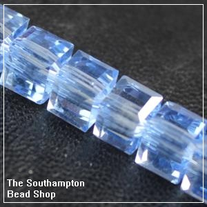 Chinese 6mm Cube Crystals - Sapphire