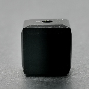 8mm Faceted Crystal Cube - Jet