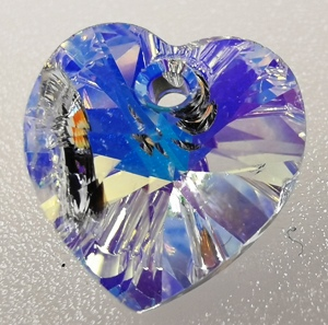 10mm Swarovski heart Crystal AB