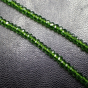 Chinese 2.5x3mm Rondelle Crystals - Emerald