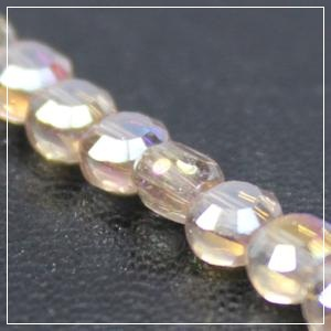 Chinese 4mm Coin Crystals - Golden Shadow