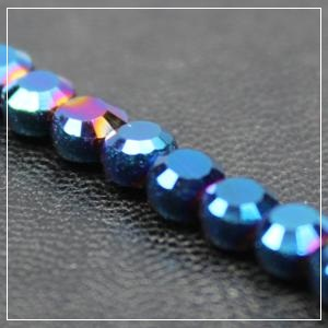 Chinese 4mm Coin Crystals - Mermaid Blue