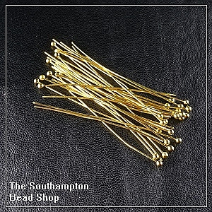 5cm-Ball Head Pins-Champagne Gold Finished (50pcs)