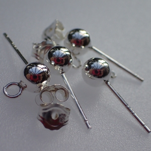 925 Silver Ball Stud Earring