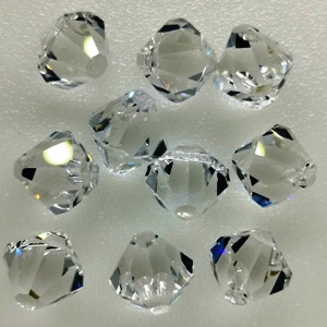 6328 Swarovski Top Drilled Bicone 6mm - Crystal