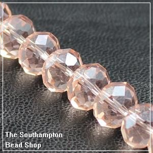 Chinese 6x8mm Rondelle - Salmon