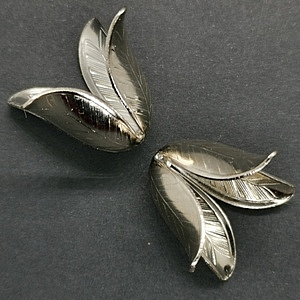 Bell Flower-Dark Silver Finished (pack of 2)
