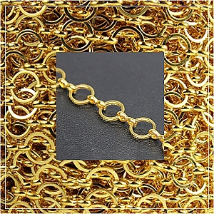 Chain-Gold plated - 8 (1 metre)