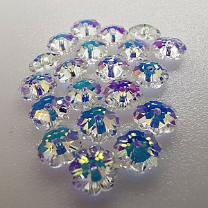 Crystal Daisy Spacers Crystal AB (4 Sizes, 20 pcs of each)