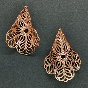 Filigree Calla Lily Rose Gold Finished (pkt of 2)