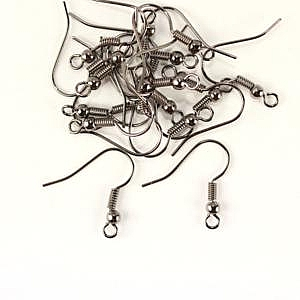 Fish Hook Earwires - Gunmetal