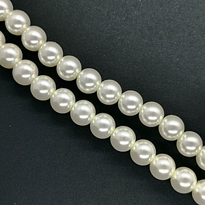 12mm Glass Pearl - Cream