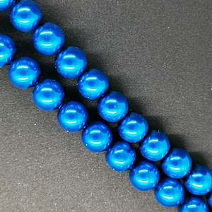 4mm Glass Pearl - Royal Blue