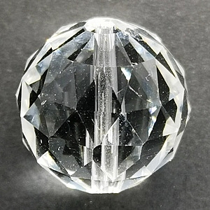 14mm Large Faceted Crystal Ball