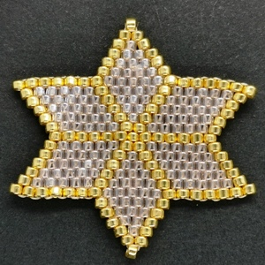 Beaded Ornaments - Large Star - Pale Pink